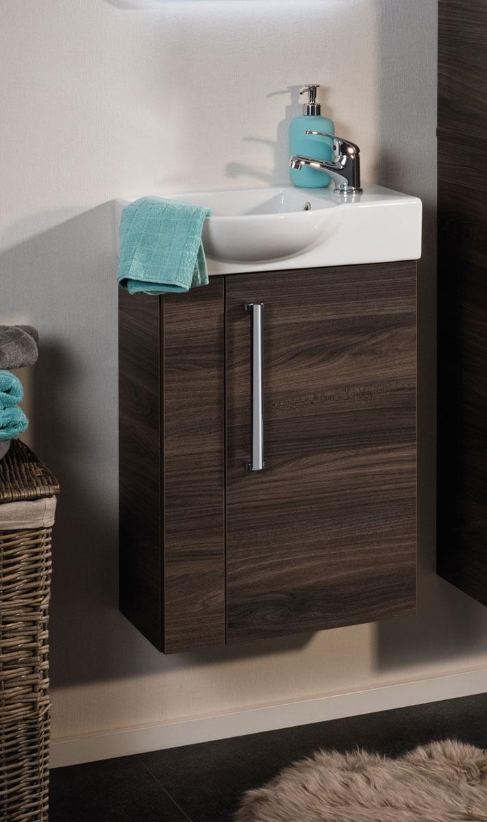 fackelmann taris g ste wc waschbecken unterschrank 45cm ulme madera oder wei ebay. Black Bedroom Furniture Sets. Home Design Ideas